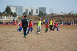 北辰小学举行师生足球对抗赛