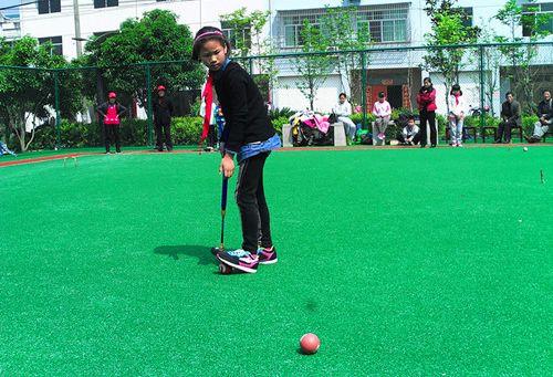 峡口小学成立浙西首支少年门球队