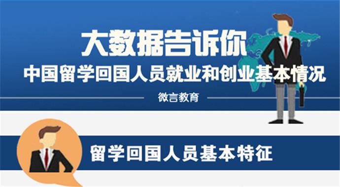 大数据告诉你中国留学回国人员就业和创业基本情况