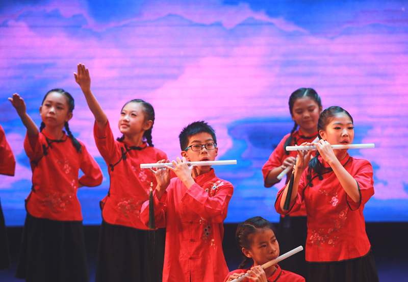 慈溪市举行中小学生班级课堂乐器合奏比赛